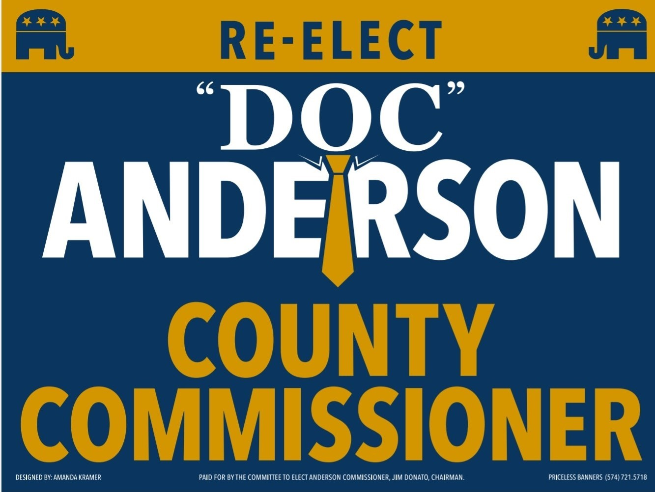 Paid for by the Committee to Elect Anderson Commissioner